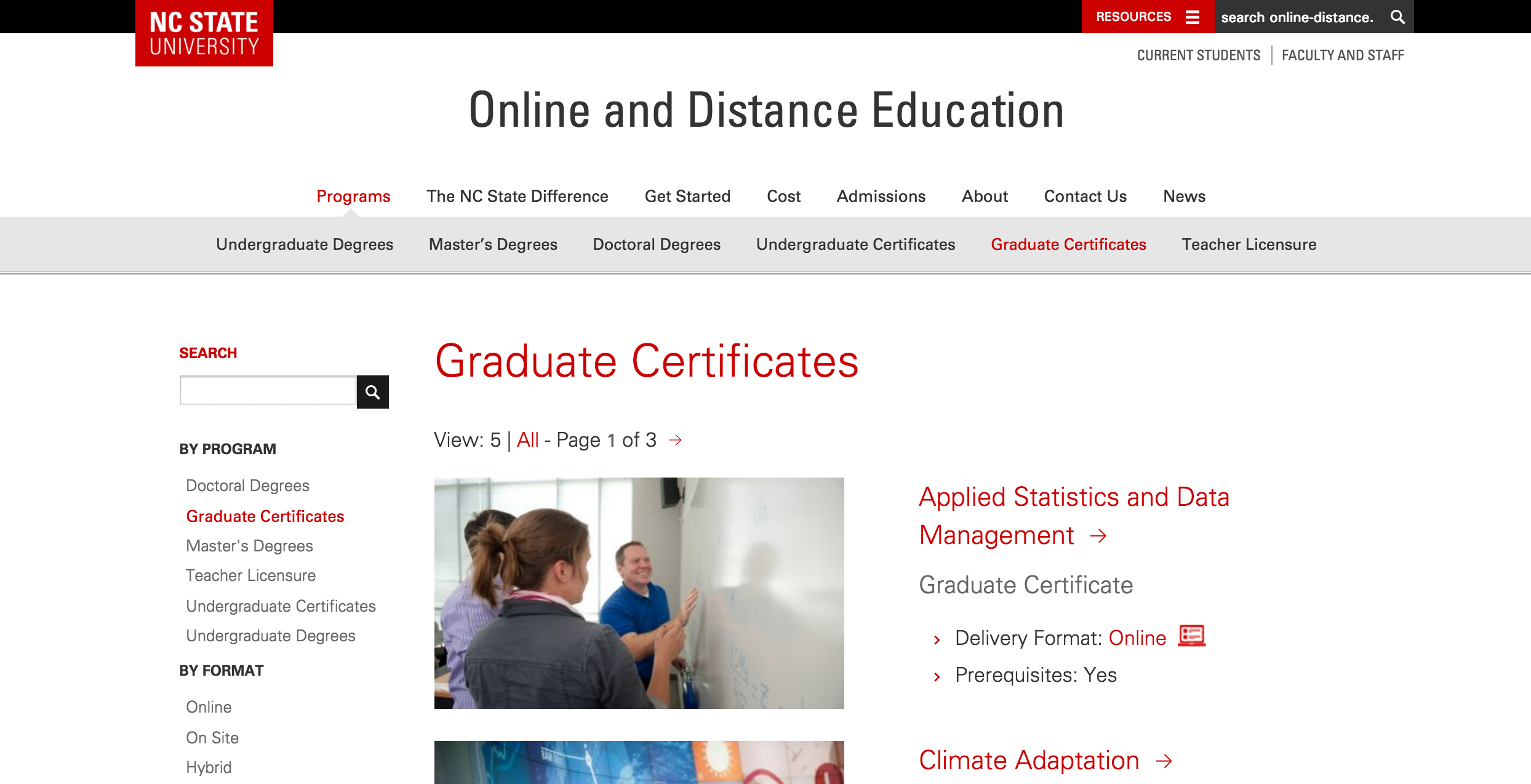 Online and Distance Education Website