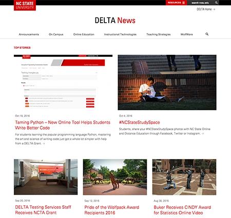 DELTA News Redesign