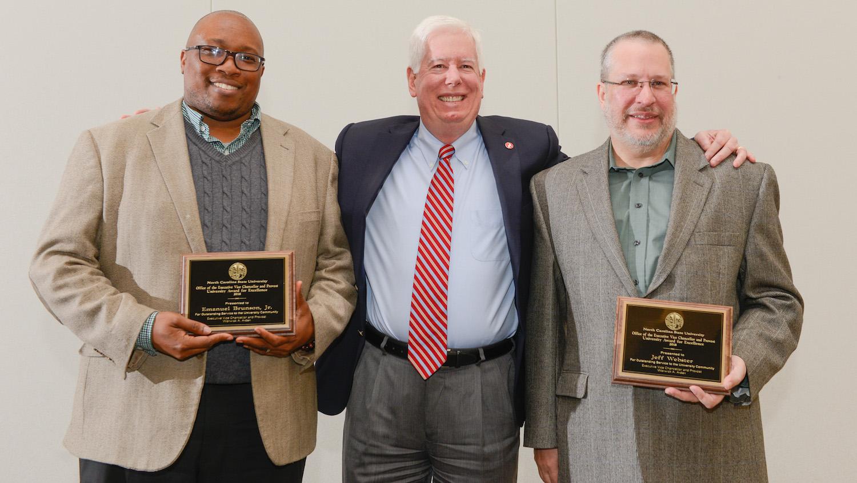 Brunson, Webster Receive 2018 Provost's Unit Award for Excellence