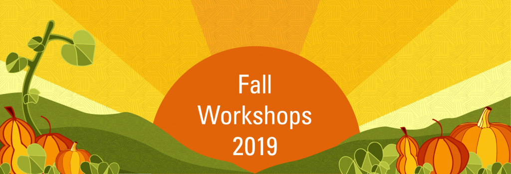 graphic for fall workshops