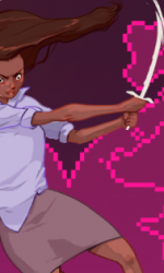 illustration of girl fighting off a beast with a message from about many emails waiting