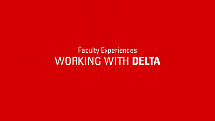 title slide: Faculty Experiences Working with DELTA