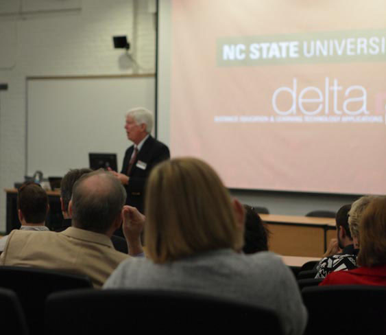 DELTA Vice Provost Tom Miller leads a Q&A Session
