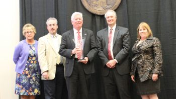 Dr. Tom Miller receives William L. Turner Award
