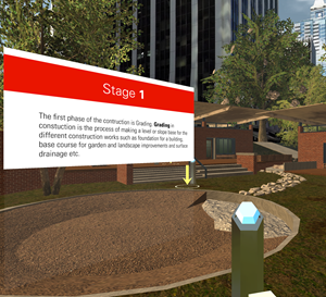 Screenshot from the LAR 457 virtual experience.