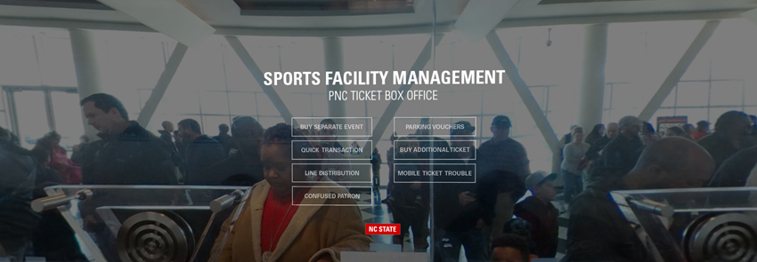 screenshot of the Sports Facility Management PNC Ticket Box Office virtual reality tour.