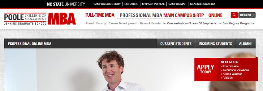 MBA Online Program DELTA Portfolio NC State