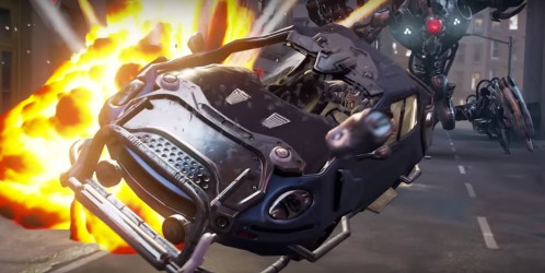 Car explosions galore in a VR showcase