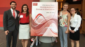 Photo of students at Undergraduate Research Symposium