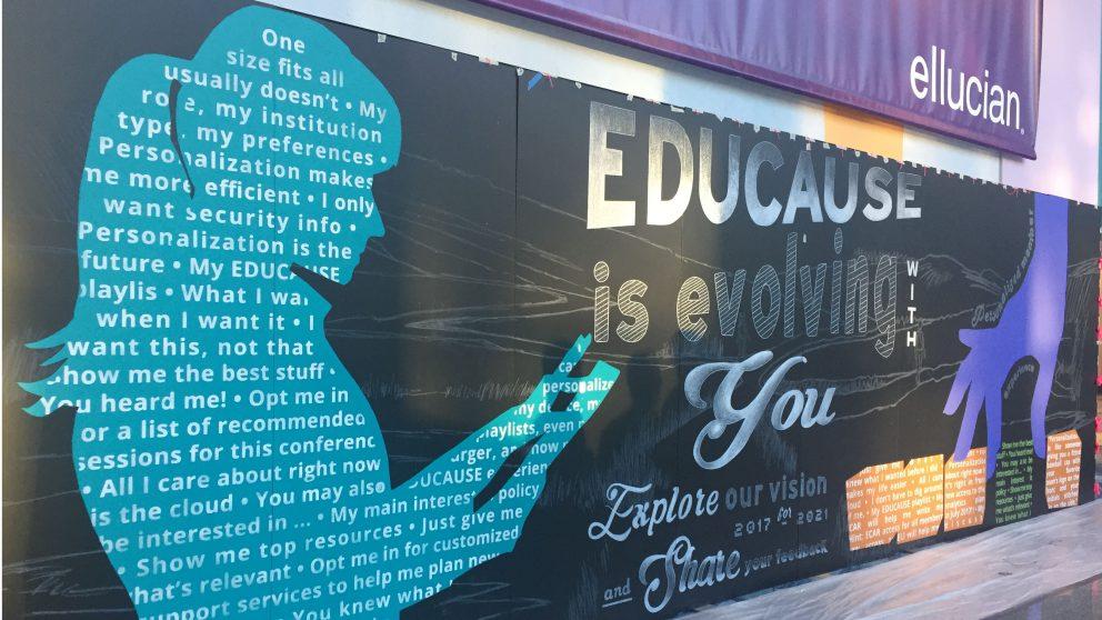 EDUCAUSE 2016 Banner at Anaheim Convention Center