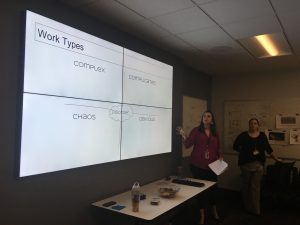 Zellweger and Gyalog presenting on Work Types and Management