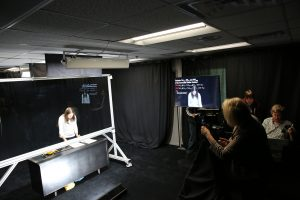 Photo of the production room for Lightboard