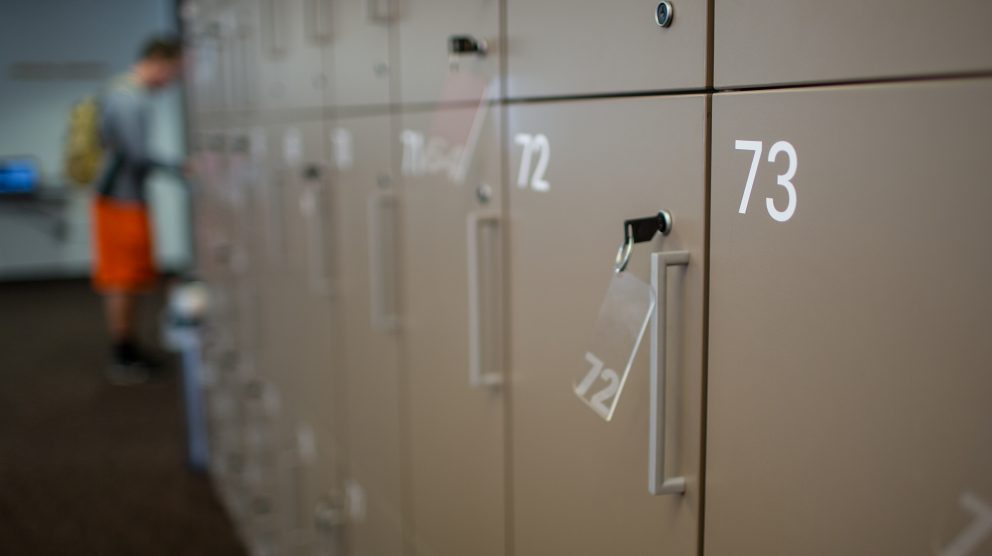 lockers in Centennial Campus Test Center