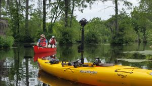 Photo of kayak with 360 technology