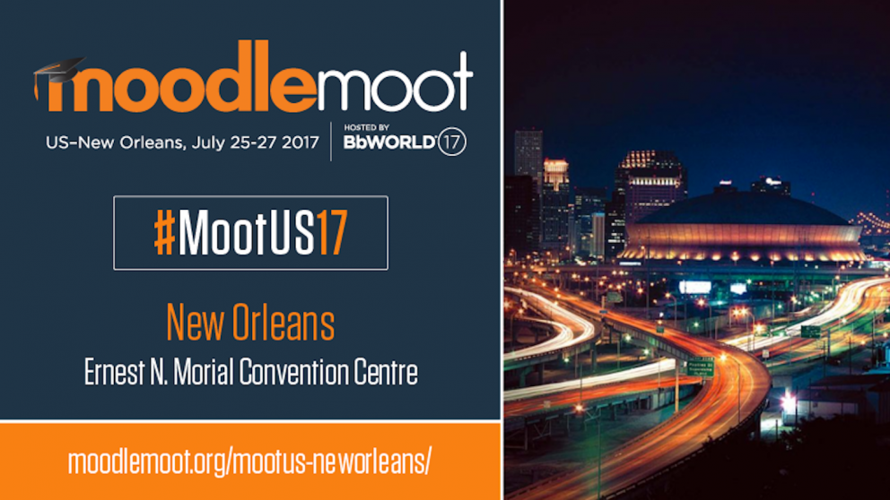 Logo of MoodleMoot 2017 in New Orleans.