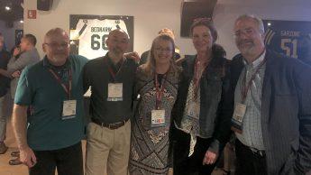 DELTA's Peter Watson, David Howard, Donna Petherbridge and Lou Harrison met with previous DELTA staff member Sharon Pitt.