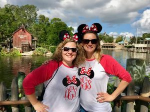 Photo of Suzanne Edmonds and Allie Giro at Magic Kingdom.