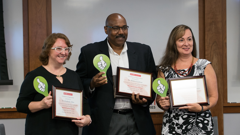 Photo of Kim Allen, Ed Lindsay, Maria Gallardo-Williams.