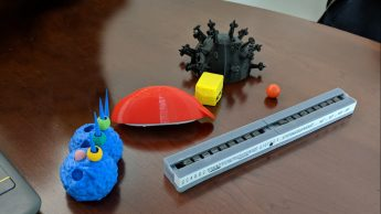 3D printed biomolecules.