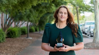Bartlett with her award