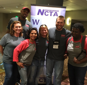 Vince and DELTA co-workers at the NCTA Conference in Seattle in 2016. Vince and co-workers pose at the professional conference in Seattle.