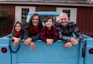 Steve and his family — Addison, Krista and Ryan.