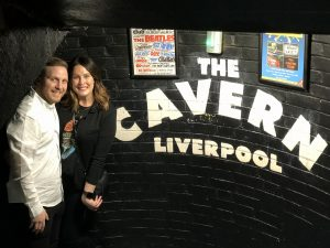 Dan and his girlfriend, Laurel, at Cavern Club on a recent trip back to England. The Cavern Club is where the Beatles first started playing in Liverpool.