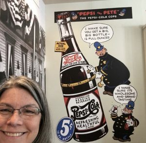 Sherry visiting the Birthplace of Pepsi in New Bern, N.C.