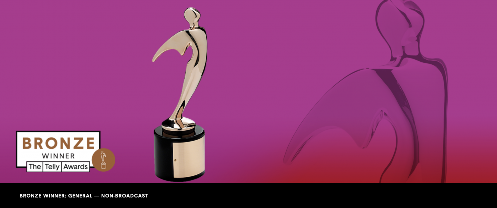 Telly Award bronze statue
