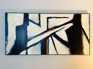 One of Alan's abstract paintings. Abstract art with lines and shapes.