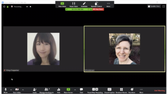 Screenshot of Yiling and Jill from the Zoom desktop client.