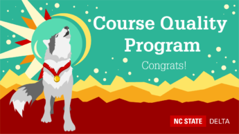 Course Quality Program. Congrats!