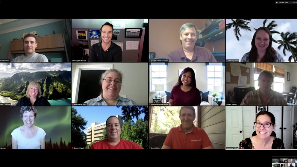 Screenshot of the Zoom meeting with the Fall 2020 OCIP cohort.