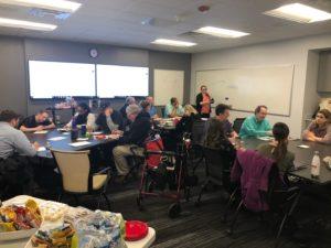 People. meeting in classroom