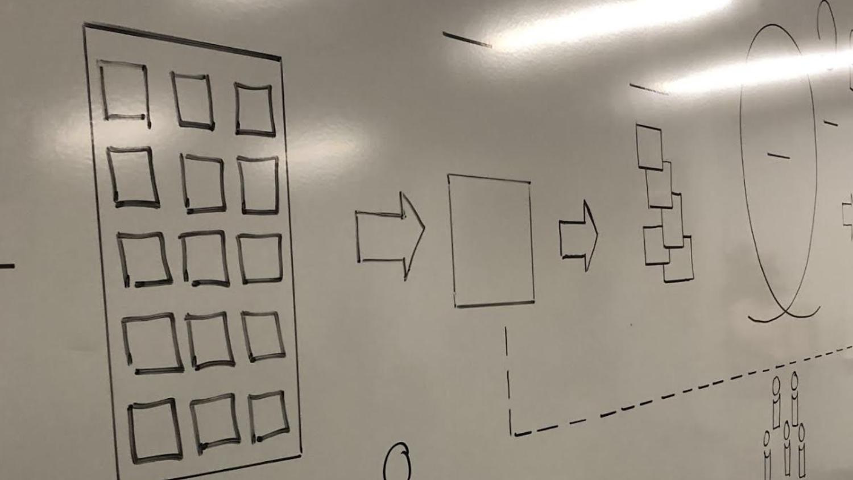 circuit drawn on whiteboard