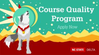 Decorative. Course Quality Program. Apply Now.