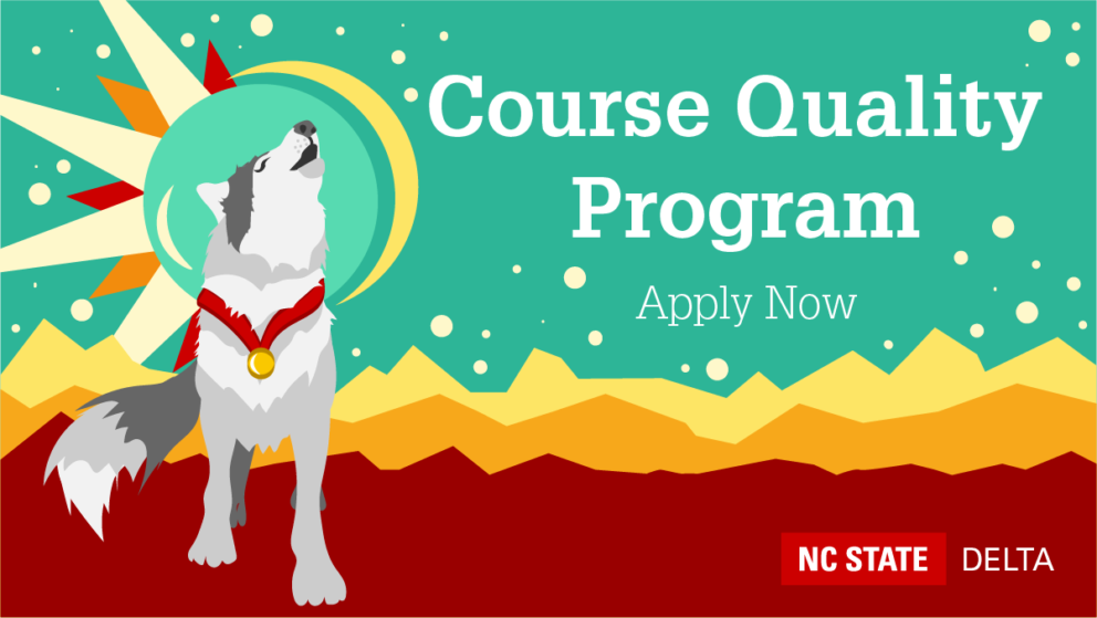 Decorative. Course Quality Program. Apply Now.