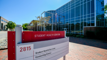 Exterior of NC State Student Health Center building