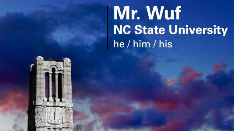 The NC State Virtual Background generator allows students and faculty to create their own customizable backgrounds.