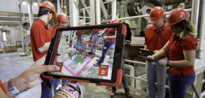 The feed mill augmented reality tour gives students the chance to walk through a feed mill virtually.