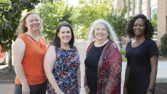 From left to right: Suzie Goodell, Natalie Cook, Cathi Dunnagan and Jessica White.