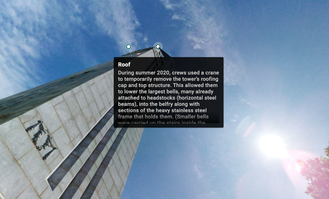 Annotation of the Belltower's roof.