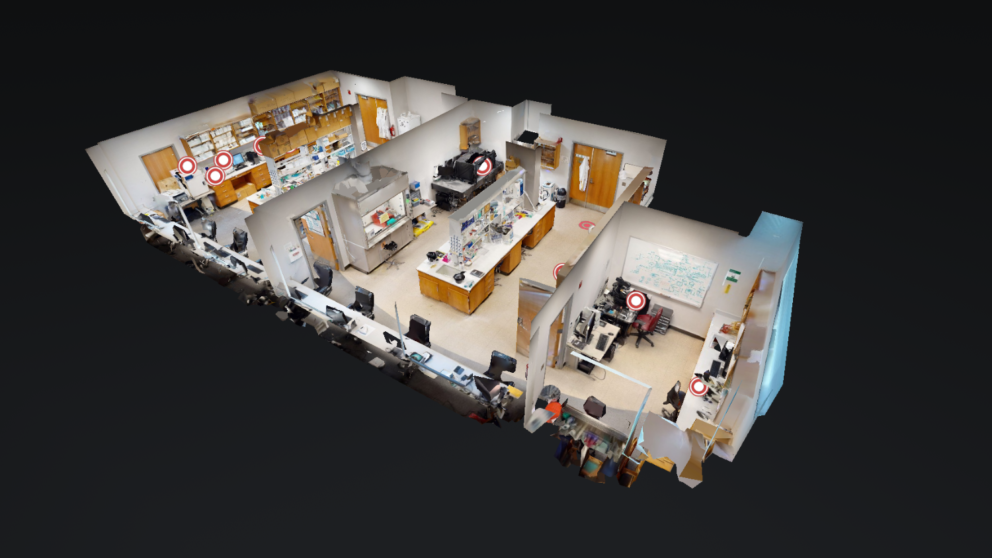 A doll house view of one of the labs in The Dickey Group's Virtual Tour
