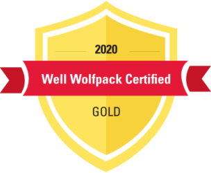 Gold badge. 2020 Well Wolfpack Certified.