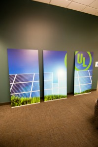 Students designed high-definition graphics for virtually every wall of the learning space.