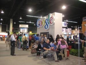 Vendor Floor at Educause (Google booth)