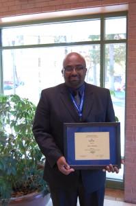 Tony with his award