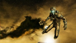 Screenshot of the lead character from the game Dead Space 2