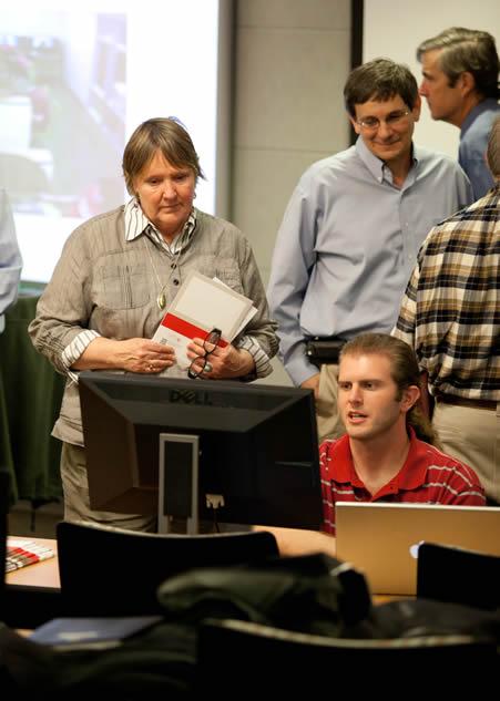 Benjamin Huckaby demonstrates the Virtual Viewer application.
