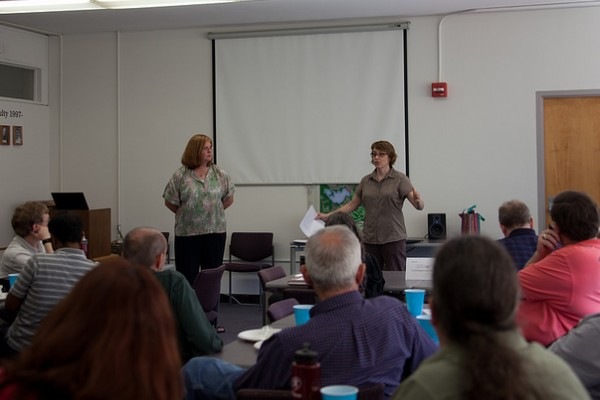 Melissa Hart and Dianne Chapman presenting